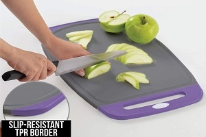 Plastic Cutting Board With Juice Groove